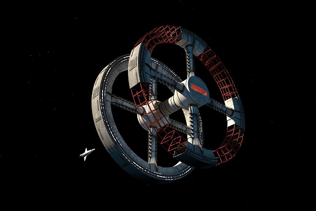 جاذبه مصنوعی در «۲۰۰۱: یک اودیسه فضایی»