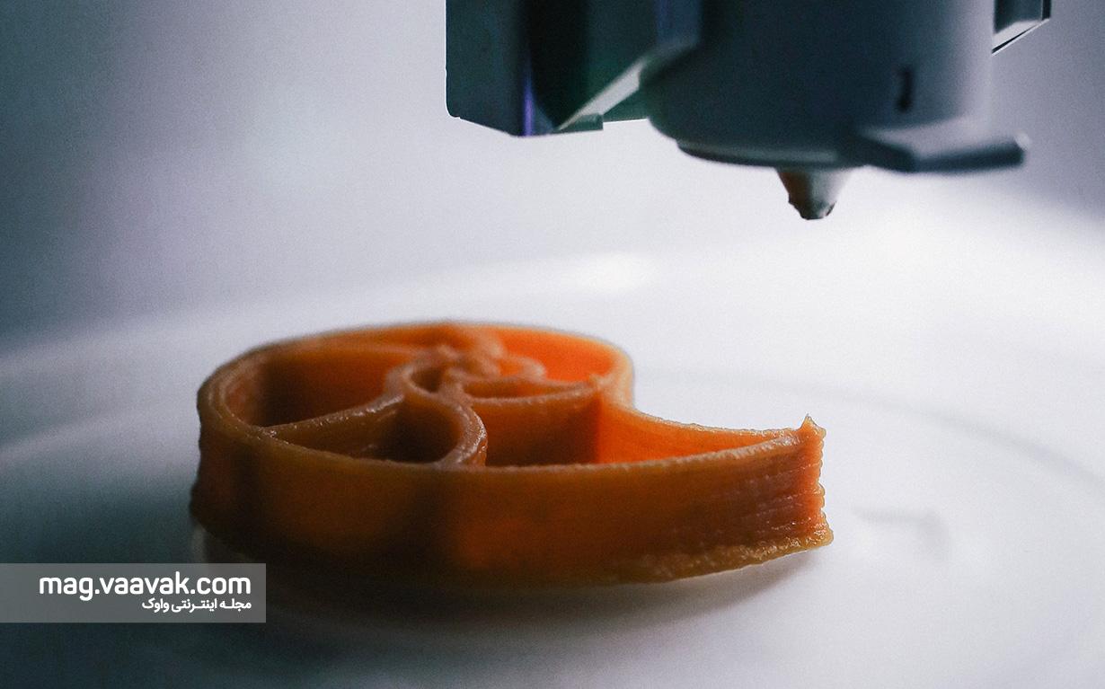 پرینتر سه بعدی برای چاپ غذا
