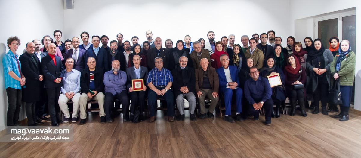عکس یادگاری دومین جایزه ترویج علم چراغ